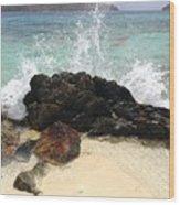 Sugar Beach Splash Wood Print