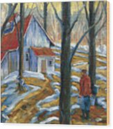 Sugar Bush Wood Print