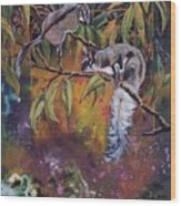 Sugar Gliders Wood Print