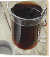 Sugar In My Coffee Wood Print