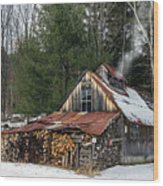 Sugar King's Smokehouse Wood Print