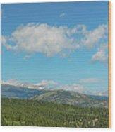 Sugar Magnolia Summer Rocky Mountain Peaks Panorama View Wood Print