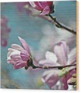 Sugar Magnolia Wood Print