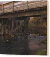 Sugar River Trestle Wisconsin Wood Print