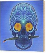 Sugar Skull Wood Print by Nelson Dedos Garcia