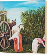 Sugarcane Worker 1 Wood Print