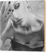 Sugared Skin 2 - Self Portrait Wood Print