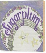 Sugarplum Logo Wood Print