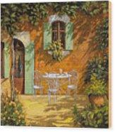 Sul Patio Wood Print by Guido Borelli