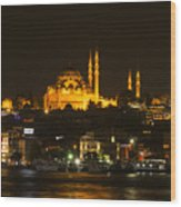 Suleymaniye At Night Wood Print