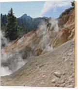 Sulfur Works In Lassen Volcanic Park Wood Print by Christine Till
