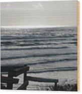 Sullen Seas Wood Print
