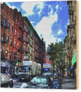 Sullivan Street In Greenwich Village Wood Print by Randy Aveille