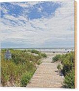 Sullivans Island Beach Entrance Two Wood Print
