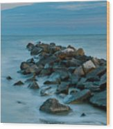 Sullivan's Island Rock Jetty Wood Print