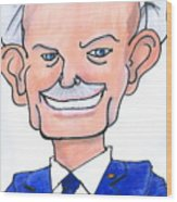 Sully Sullenberger Caricature Wood Print
