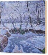Sulphur Creek Snowfall Wood Print