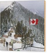 Sulphur Mountain In Banff National Park In The Canadian Rocky Mountains Wood Print