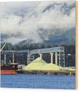 Sulphur Pile Wood Print