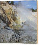 Sulphur Works - Lassen Volcanic National Park Wood Print by Christine Till