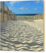 Sultry September Beach Wood Print