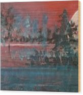 Sultry Sunset Wood Print