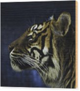 Sumatran Tiger Profile Wood Print