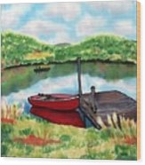 Sumer Reflections Wood Print by Linda Marcille
