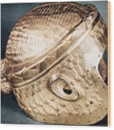 Sumerian Gold Helmet Wood Print