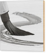 Sumi-e Brush 2 Wood Print