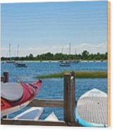 Summer Afternoon Boating Wood Print