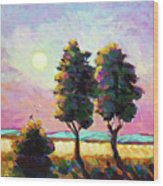 Summer Afternoon In The Fields Wood Print