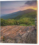 Summer Along The Appalachian Trail Wood Print