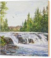 Summer At Buttermilk Falls Wood Print
