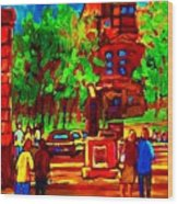 Summer At Mcgill University Wood Print