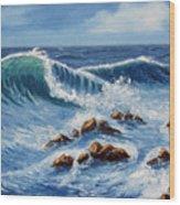Summer At The Beach Wood Print