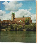 Summer. At The Resort In Bad Saeckingen. Germany. Wood Print