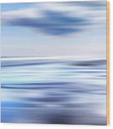 Summer Beach Blues Wood Print
