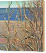 Summer Beach Grasses Wood Print