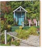 Summer Beach House Wood Print