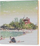 Summer Beach Sunshine Wood Print
