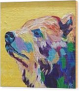 Summer Bear Wood Print