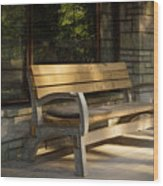 Summer Bench Wood Print