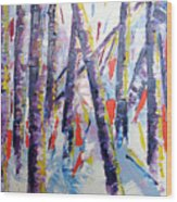 Summer Birches Wood Print