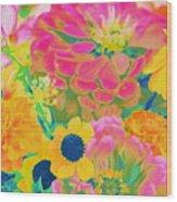 Summer Blossoms - Pop Art Wood Print