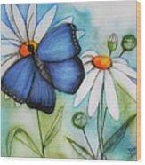 Summer Blue Wood Print