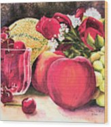 Summer Bounty Wood Print