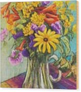 Summer Bouquet Wood Print