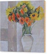 Summer Bouquet Wood Print
