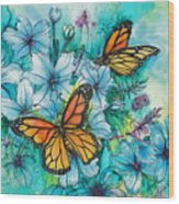 Summer Butterflies Wood Print